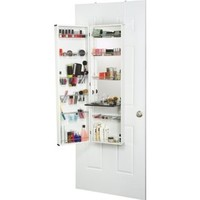 Mirrotek Over The Door Combination Jewelry and Makeup Armoire, White