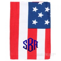 Monogrammed Beach Towel | Marley Lilly