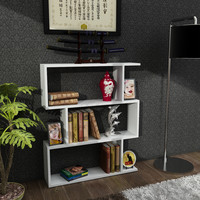 Bensley White Free-Standing Contemporary Bookcase