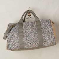 Deux Lux Tweed Shimmer Weekender in Grey Motif Size: One Size Bags