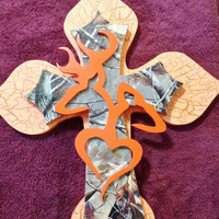 BOO 31%off HappyHalloween Deer Trple Stacked Camo Themed Cross