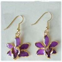 Lilac Orchid Earrings