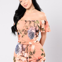 Ask About Me And You Romper - Orange