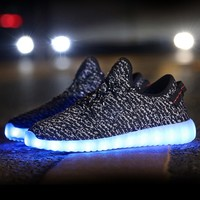 Black Knit LED Light Up Shoes | Festival Shoes from RaveReady