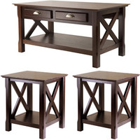 Walmart: Xola 3-Piece Coffee & End Tables Value Bundle, Cappucino