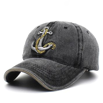 Cotton Gorras Anchor Baseball Cap Vintage Casual Hat Adjustable Baseball Caps New for Adult B334