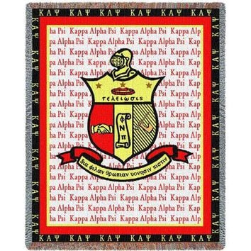 KAPPA ALPHA PSI (2) AFGHAN THROW BLANKET