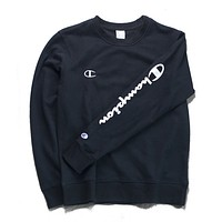 Champion Fashion Print Long Sleeve Cotton Top Sweater Pullover