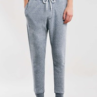 Blue Neppy Textured Joggers - Men's Pants - Clothing