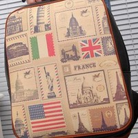 American Flag Retro Leisure Backpack