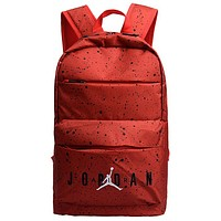 AIR JORDAN 2019 new splash ink light travel sports travel commuter backpack Red