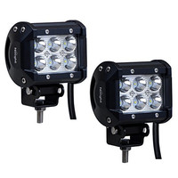 """Nilight 2PCS 18W 1260lm Spot Driving Fog Light Off Road Led Lights Bar Mounting Bracket for SUV Boat 4"""" Jeep Lamp,2 years Warranty"""