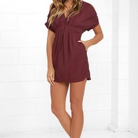 Game Changer Wine Red Dress