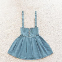 High Waist Retro Fashion Denim Skirt