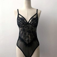 Vest Spaghetti Strap Bra Summer Sexy Lace Fashion One-piece [10433521603]