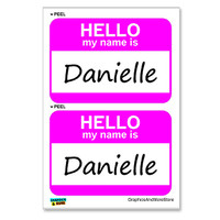 Danielle Hello My Name Is - Sheet of 2 Stickers