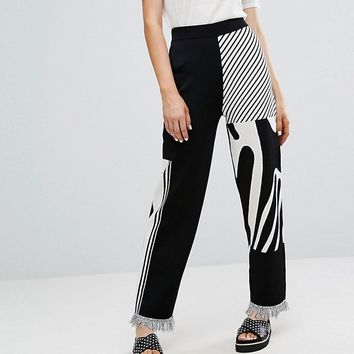 Weekday Press Collection Knit Trousers at asos.com