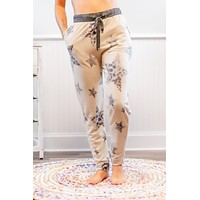 Leopard Star Taupe Lounge Pants