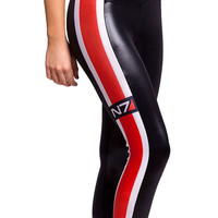 Womens Sexy Color Block N7 Red Striped Printed Leggings Tight Pants
