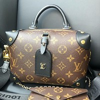 LV Louis Vuitton Petite Malle Souple Shoulder Bag Cosmetic Bag