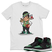 Boston Lumberjack White T-Shirt - Air Jordan 1 Pine Green