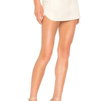 Karina Grimaldi Jacob Leather Skirt in Bone