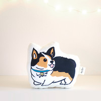 Tri Color Welsh Corgi Pillow