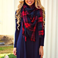 Somewhere Only We Know Dress - Navy