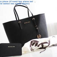 MK tide brand female shopping bag shoulder Messenger bag black