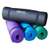 Premium 1/2-Inch Extra Thick w/ 68 x 24-Inch High Density Durable Close-foam Tech. Exercise Yoga Mat w/ Carry Strap - Best Quality - Lowest Promotional Price (Black or Blue):Amazon:Sports & Outdoors