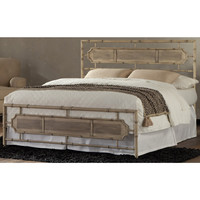 Magnolia Carbon Steel Folding Bed Frame with Headboard & Footboard