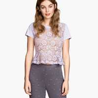H&M Short Lace Top $24.95