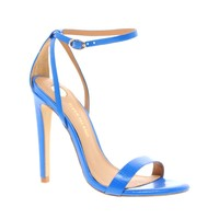 River Island | River Island Barely There Blue Heeled Sandals at ASOS