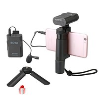 BOYA BY-WM4 Phone Wireless Microphone Professional For iPhone/Android/DSLR Camera Action,Lavalier Mic For Video Recording Stereo