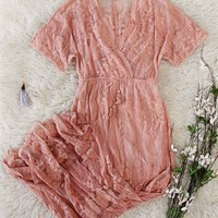 Gold Coast Lace Maxi in Rose