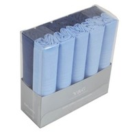 Ten pack cotton handkerchiefs mens wholesale with gift box --Blue MH1071 One Size Blue