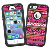 """Pink Geometric Tribal """"Protective Decal Skin"""" for OtterBox Defender iPhone 5s Case"""