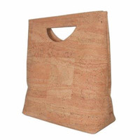Cut Out Cork Clutch in Natural Cork