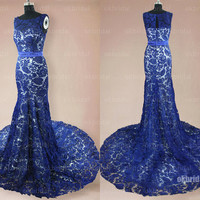 lace prom dresses, royal blue prom dresses, prom dresses online, prom dresses 2014, affordable prom dresses, RE383