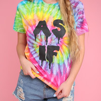 AS IF Drippy Bright Rainbow Tie-Dye Graphic Unisex Tee