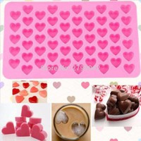 Kitchen Baking Tools 55 Holes Cute Heart Style Silicone Chocolate Mold Ice Cream Candy Lolly Muffin Mould Valentine Gift Maker