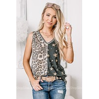 Shoot For The Stars Duel Printed Tank Top