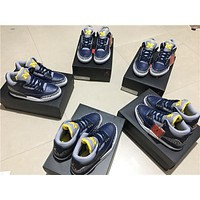 Air Jordan 3 Retro Navy/yellow Aj 3 820064 Size 7 13 | Best Deal Online