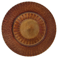 Aztec Chargers, Copper, Set of 6, Chargers