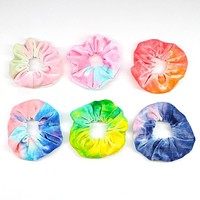 Velvet Tie Dye Hair Scrunchies