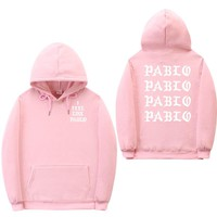 Sweatshirts men Kanye West Pablo Hoodies Men Hip Hop Tracksuit Sweatshirt Pull Paris I Feel Like Pablo hoodie Sportswear