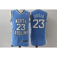 NCAA University Basketball Jersey North Carolina NC State Wolfpack # 23 Michael Jordan Blue