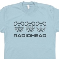 Radiohead T Shirt Vintage Rock T Shirts Mouse Graphic