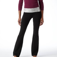 Aerie Shimmer Slim Gym Flare Pant | Aerie for American Eagle