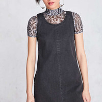 BDG Scoop-Neck A-Line Denim Mini Dress - Urban Outfitters